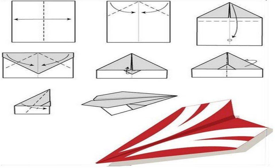 Как сделать самолетик из бумаги который очень долго летает 728