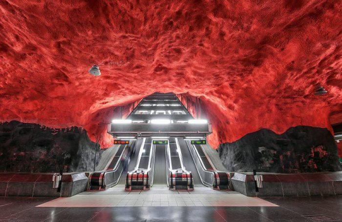 Галерея под землей: красоты Стокгольмского метрополитена