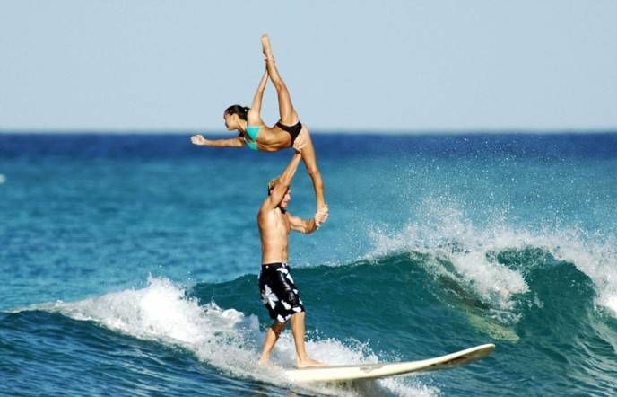 Акробатика во время серфинга