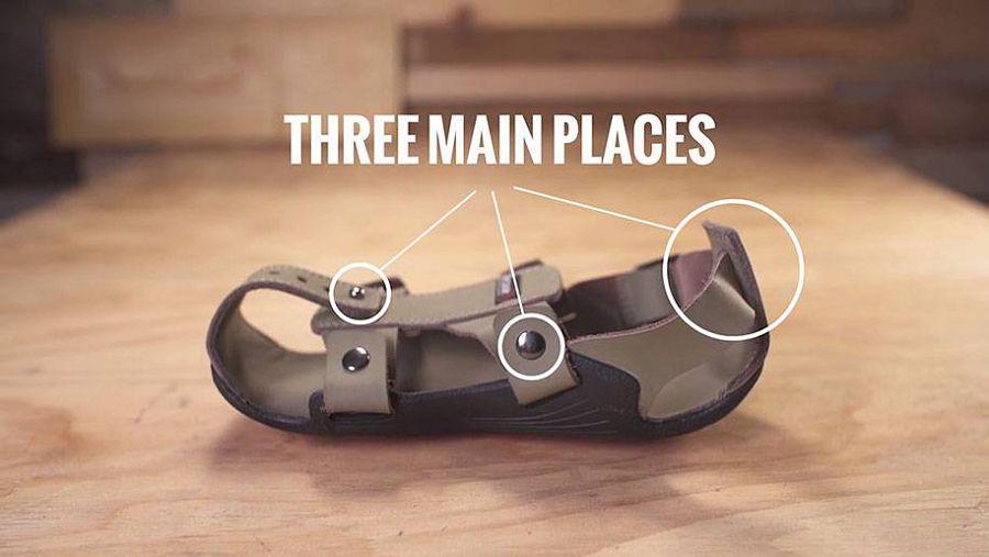 безразмерные сандали
