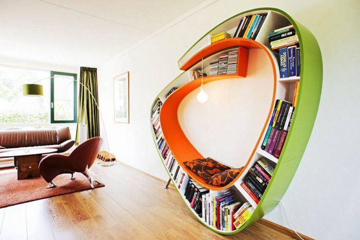 20 самых креативных книжных полок