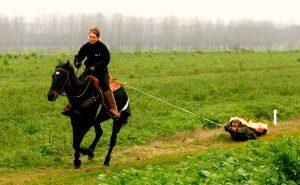 Лошадь протащила горящего Роланда 472,8 метров