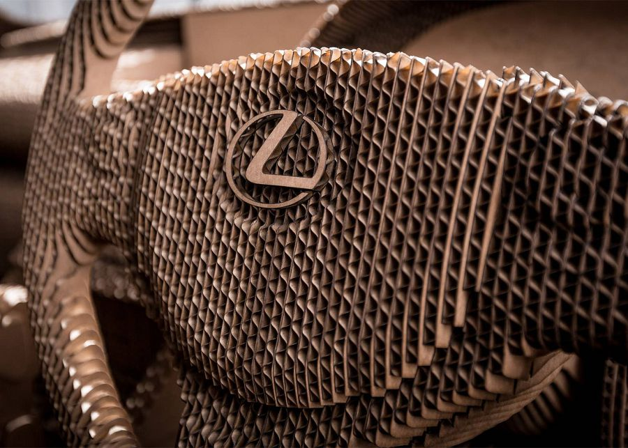 Lexus car - оригами на колесах