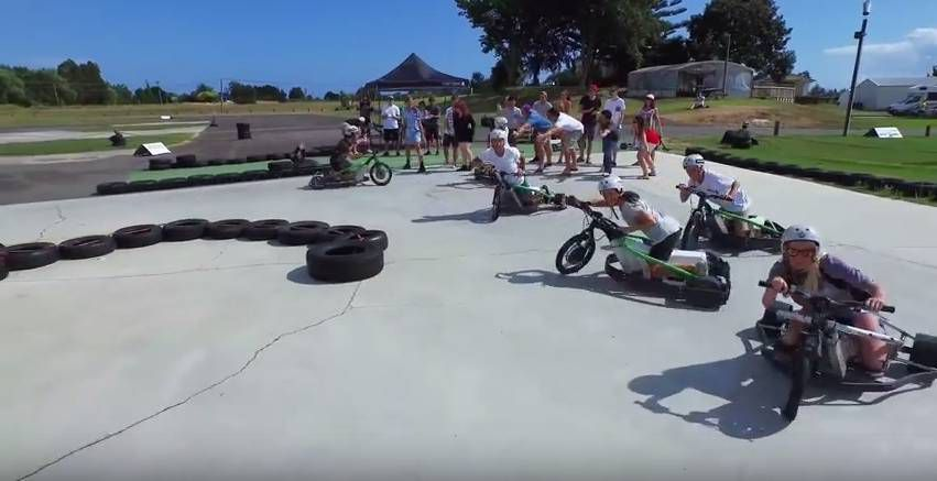 Motorized Drift Trike and Blokart 2