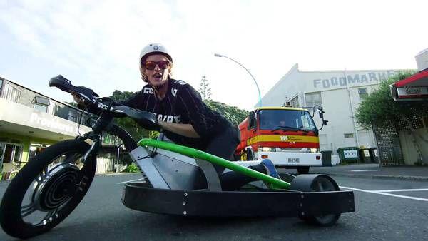 Motorized Drift Trike and Blokart титул