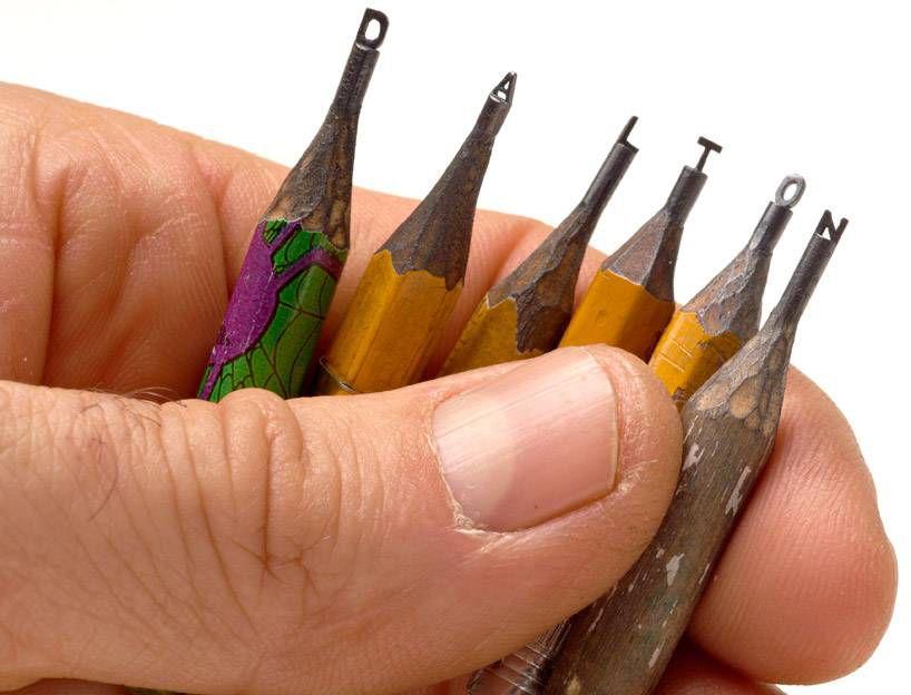скульптуры на карандаше