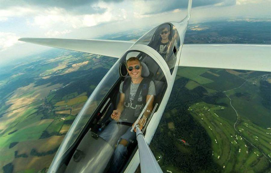 селфи на самолете