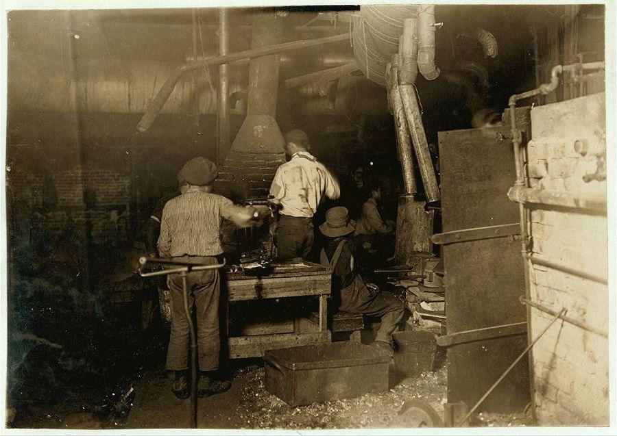 Стекольное производство в Индиане. 1908 год
