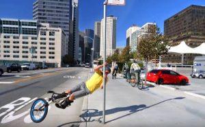 Чумовой паркур на велосипеде