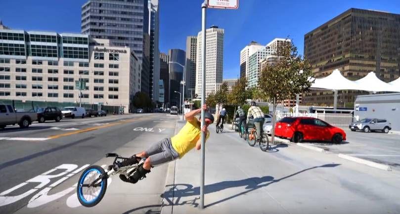 Паркур на велосипеде 4