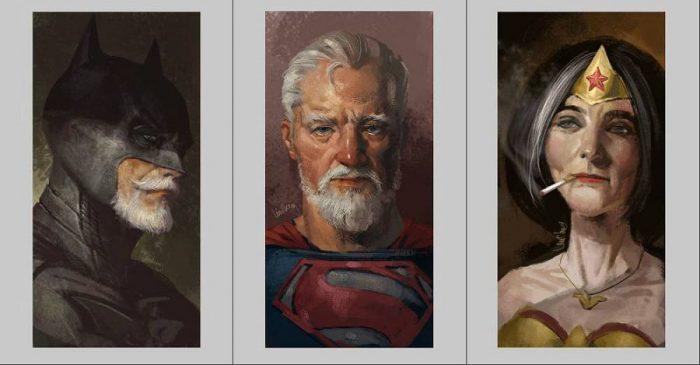 Как могут выглядеть постаревшие супергерои