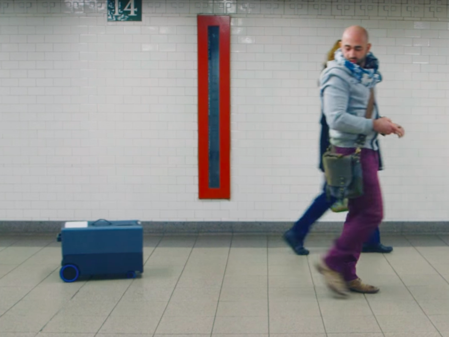умный чемодан nua robotics