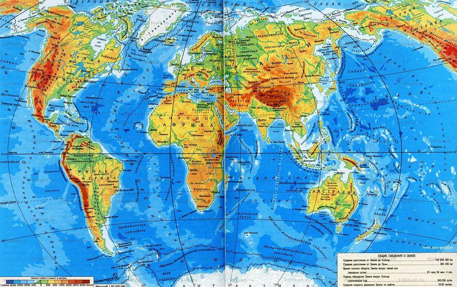 Карта мира стран Европы
