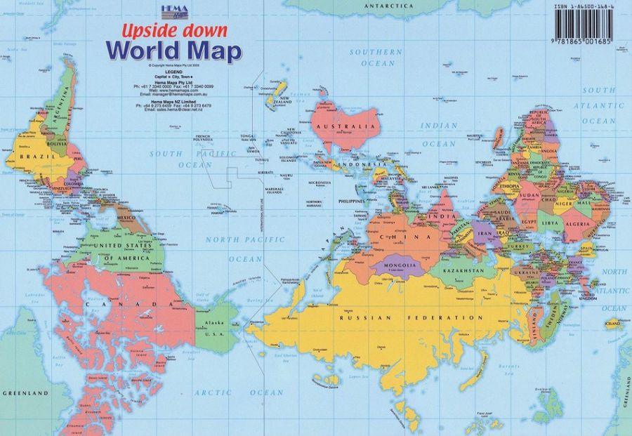 карта мира Австралии