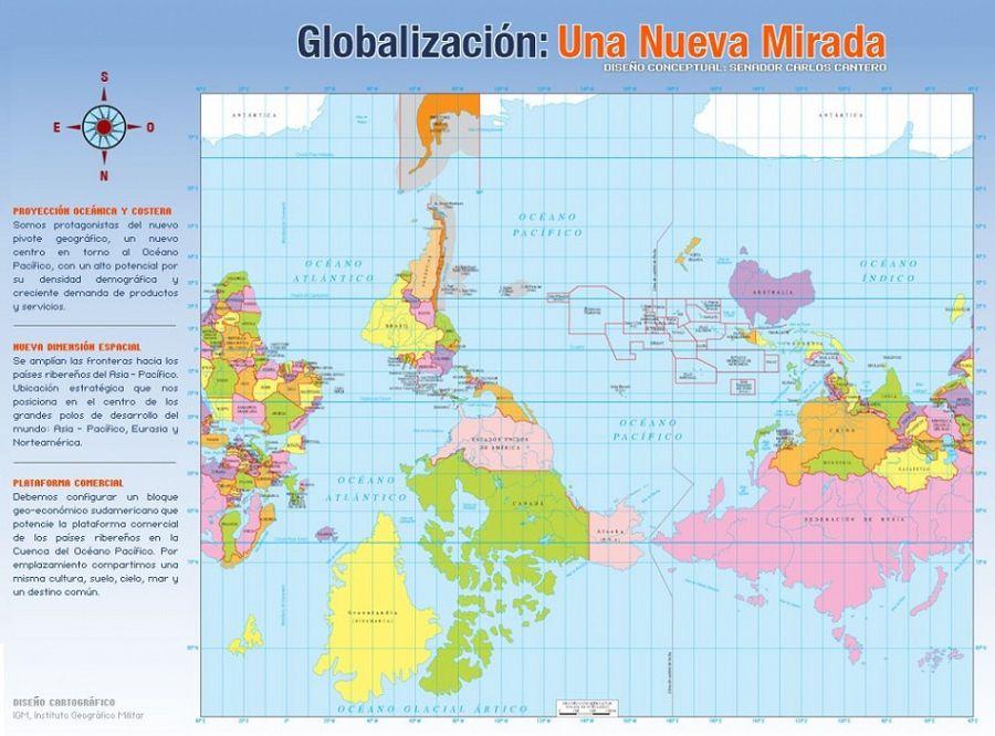 карта мира Чили