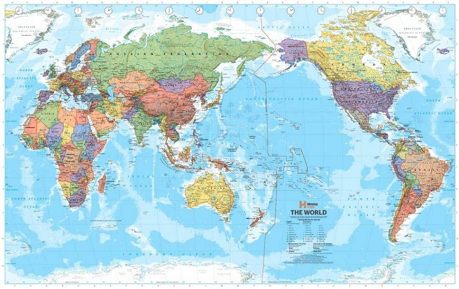 карта мира Китая
