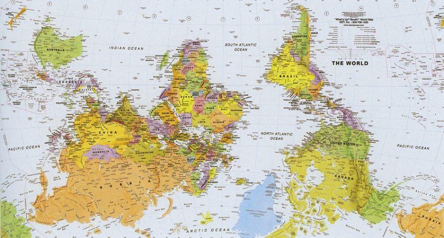 карта мира Южной Африки