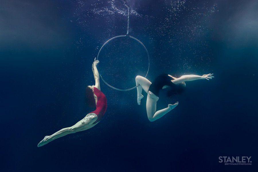 Подводные трюки воздушных гимнастов