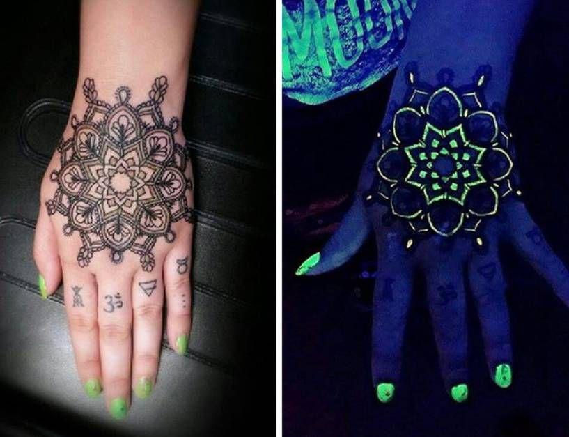 Подборка разнообразных флуоресцентных татуировок