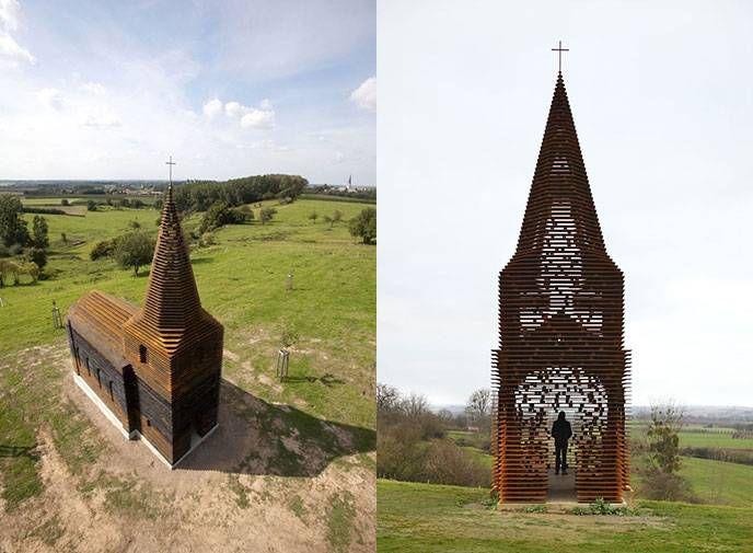 Читая между строк» - необычная церквушка в стиле современного искусства