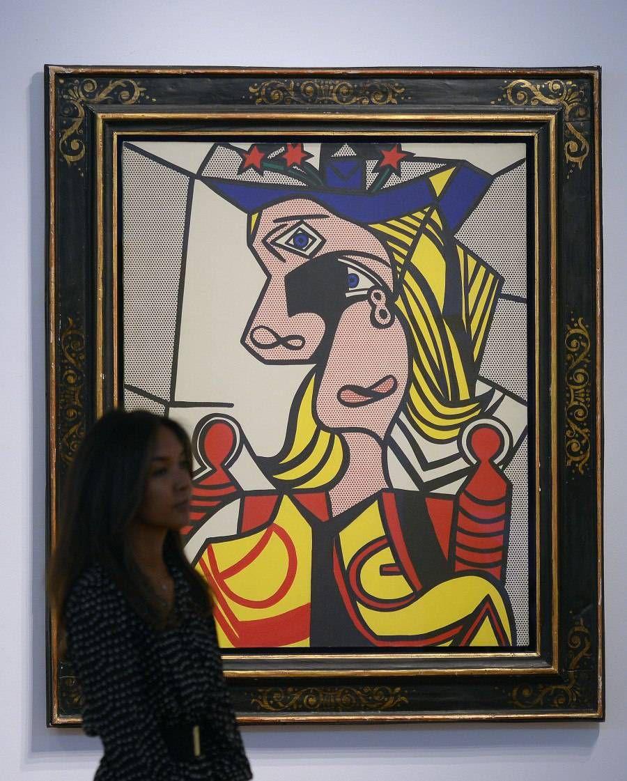 Рой Фокс Лихтенштейн. «Женщина в шляпе с цветами»
