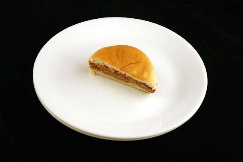 половинка гамбургера