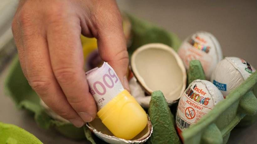 Деньги в киндер-сюрпризе
