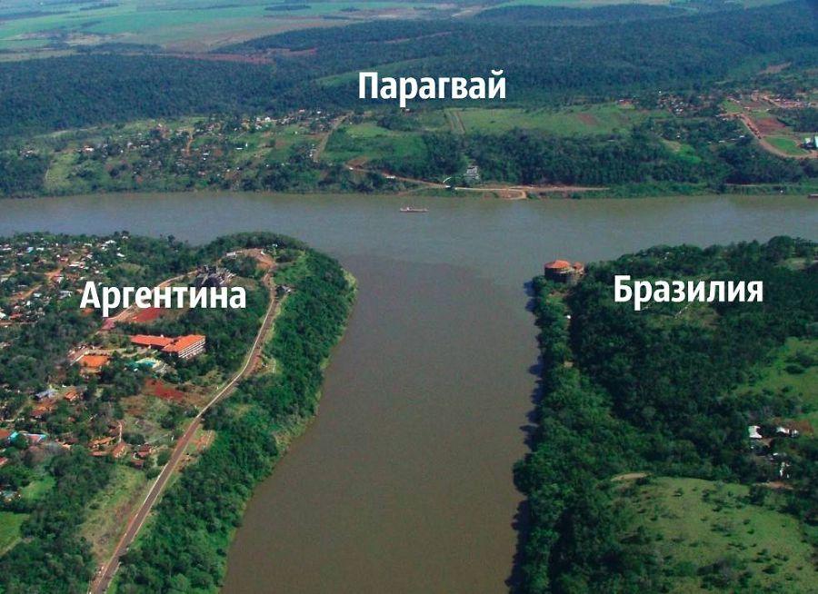 Аргентина, Бразилия, Парагвай, граница