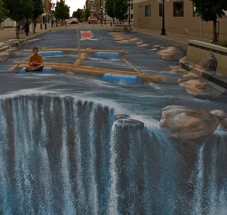 Наводнение в Канаде, 3D-картина