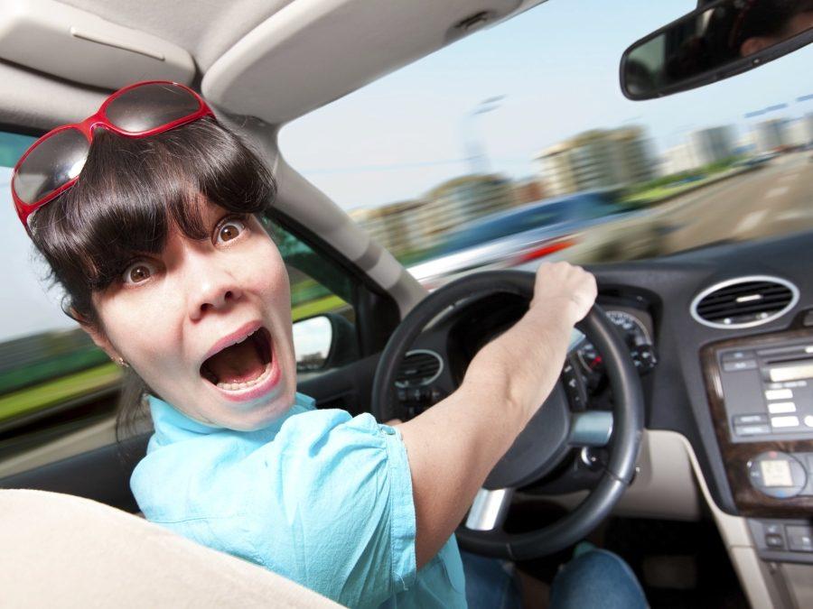 испуганный водитель
