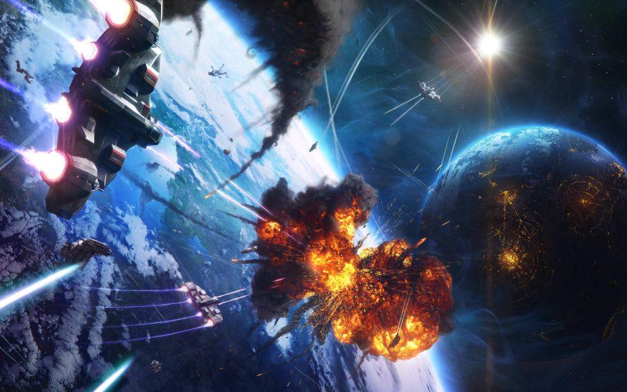 взрывы, пожары в космосе