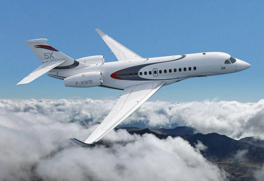 Dassault Falcon 5X, частный самолет