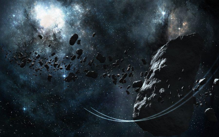 поле астероидов