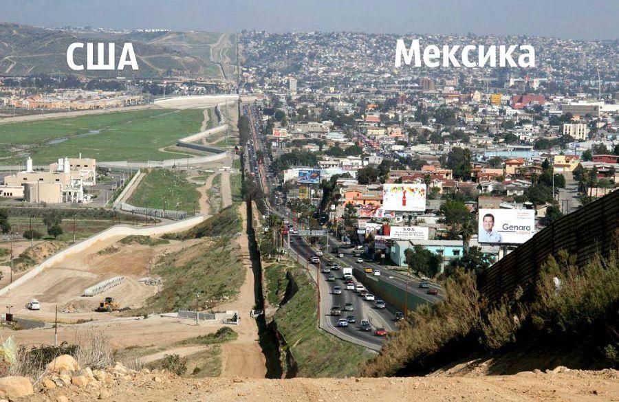 США, Мексика, граница