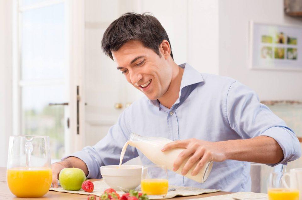 завтрак мужчины