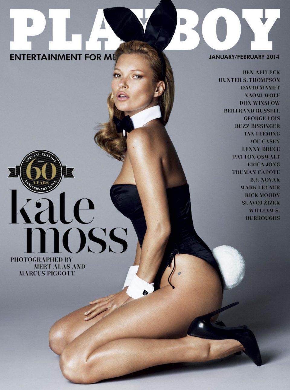 Кейт Мосс на обложке плэйбой