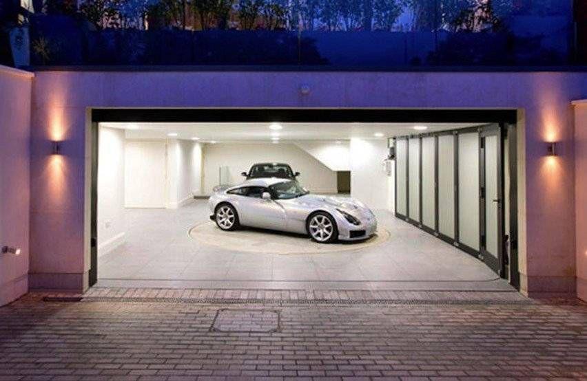 гараж с поворотным кругом