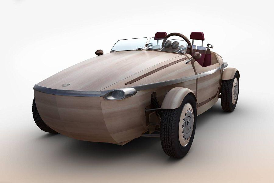 Setsuna — деревянный электромобиль
