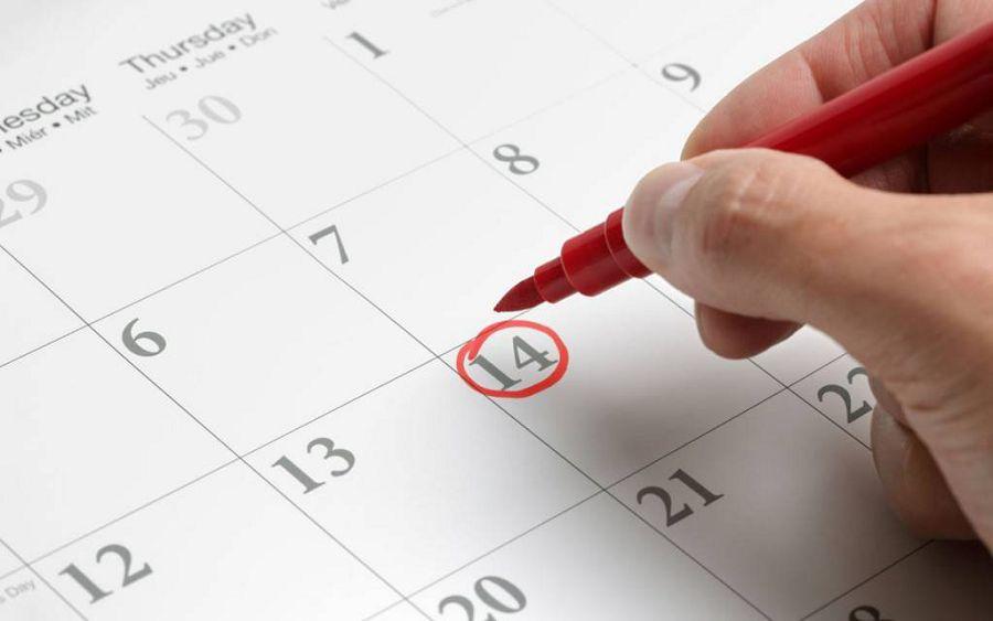 дата в календаре