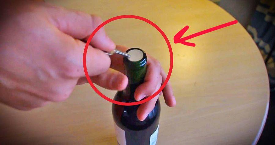 открыть вино без штопора