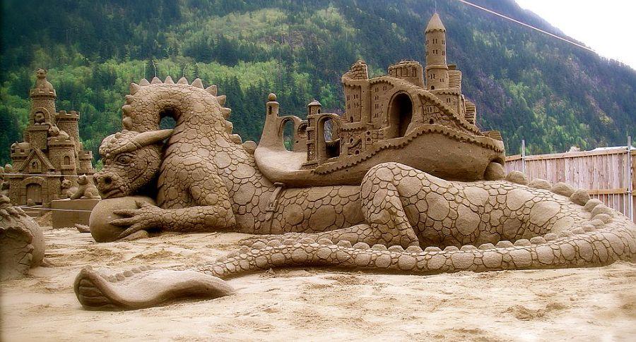 дракон из песка