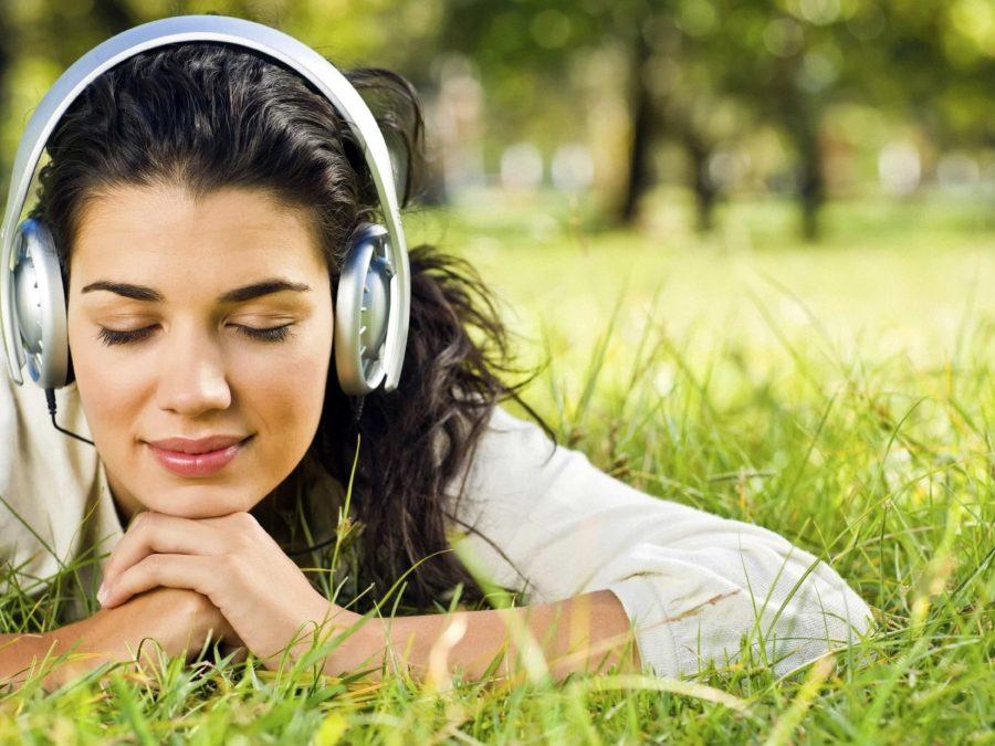 девушка музыка