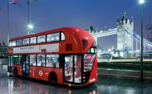 Первый в мире двухэтажный электрический автобус