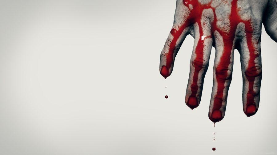окровавленная рука