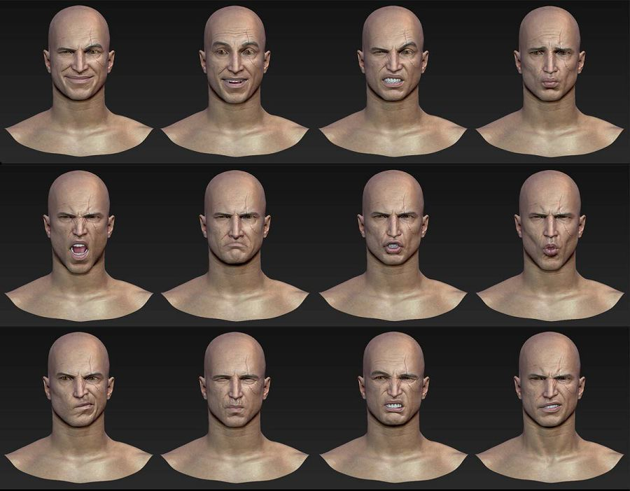 мужчина лицо