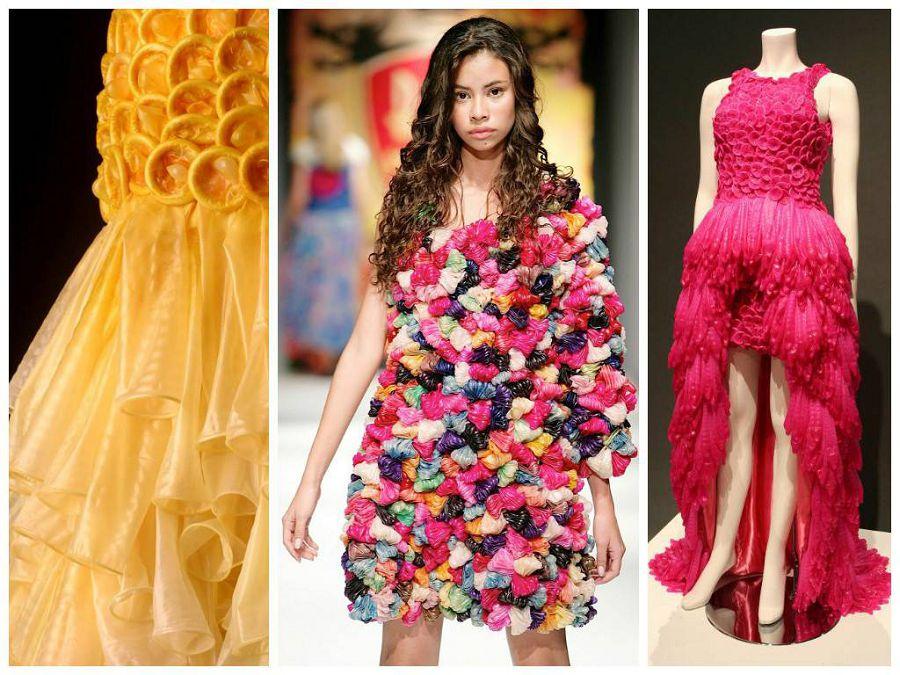 5. Свадебный наряд из презервативов