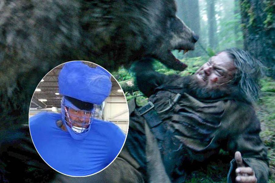 сцена с медведем из фильма «Выживший»