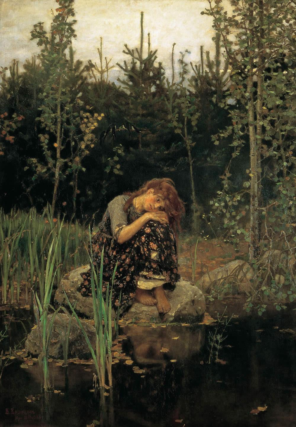Картина «Аленушка» работы Виктора Васнецова