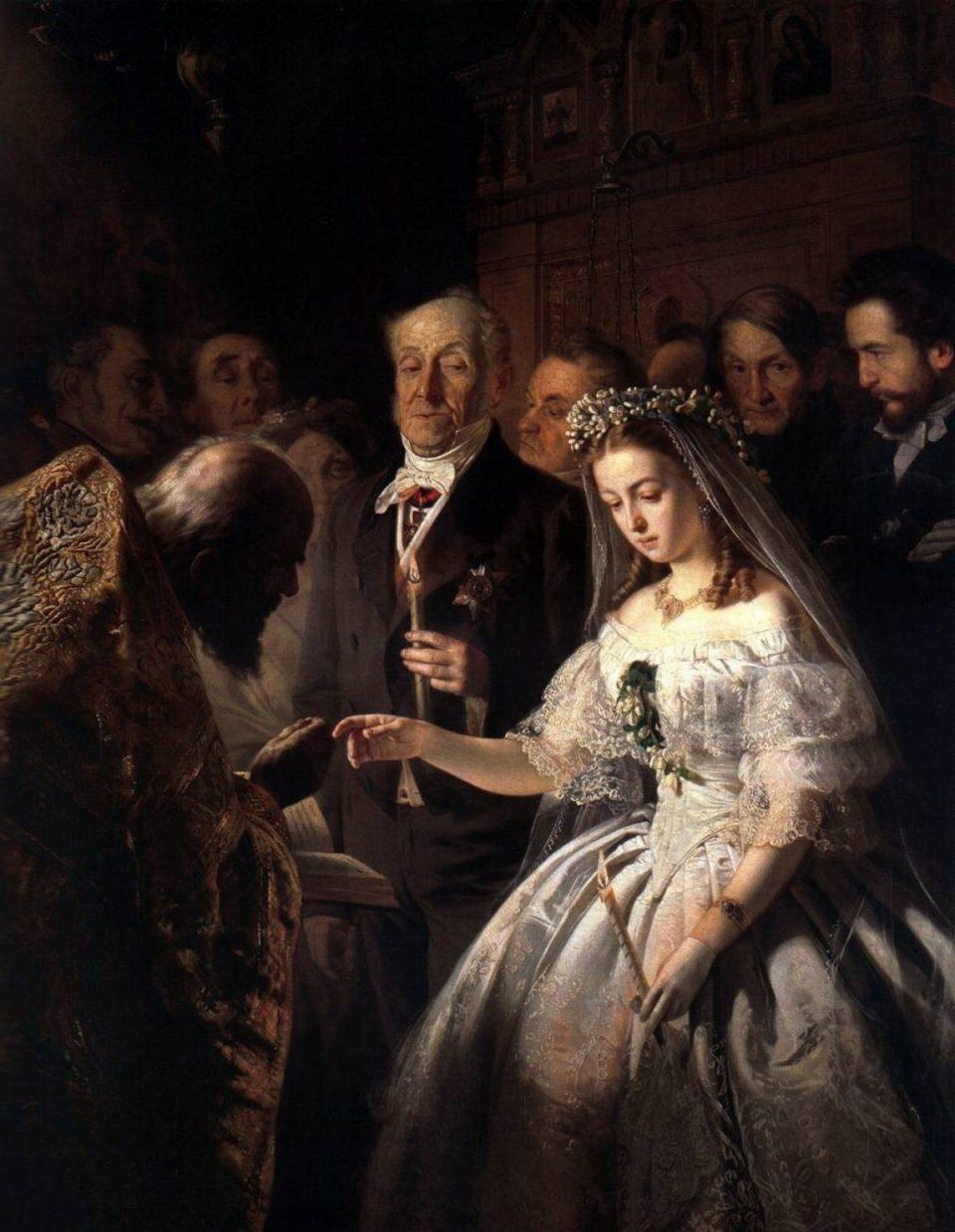 Картина «Неравный брак» работы Василия Пукирева