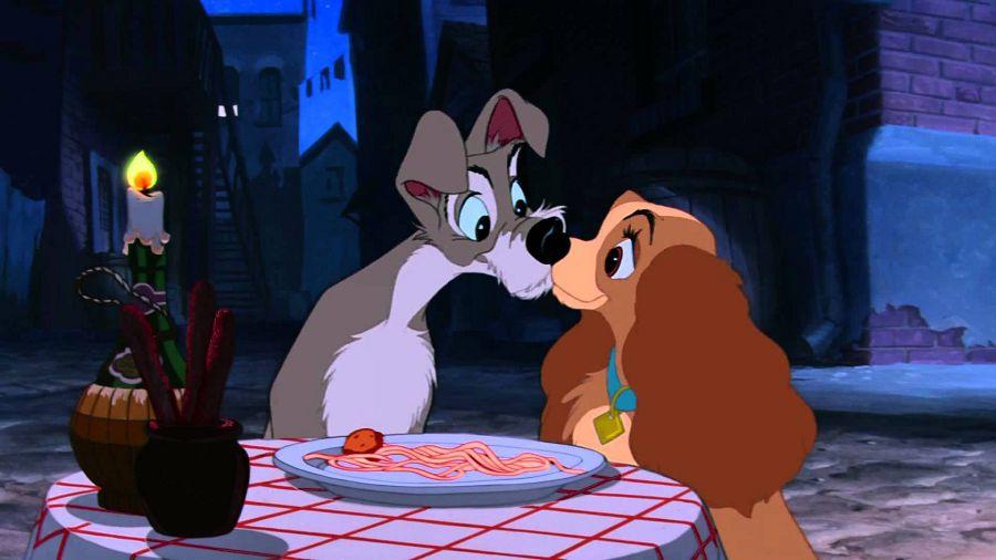 Поцелуй Леди и Бродяги